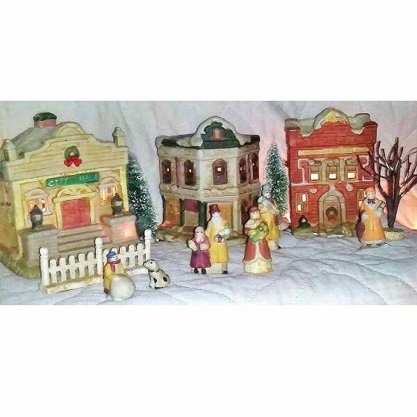 60s Ceramic Holiday Villiage pic 8