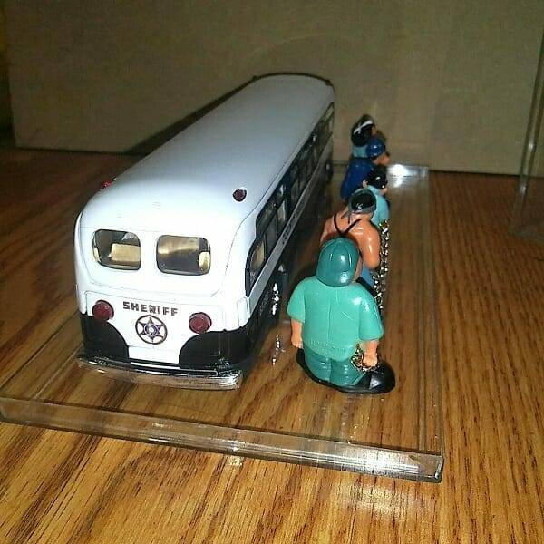 Cool Diecast Sheriff Bus back view 2