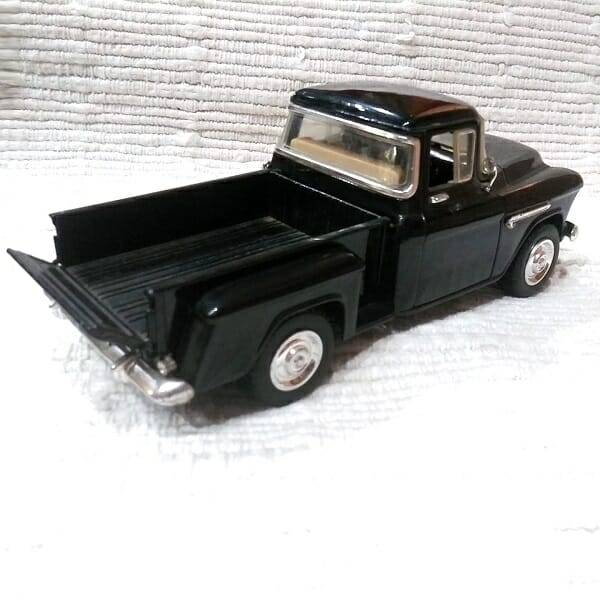 55 Black Pickup Truck Model back view