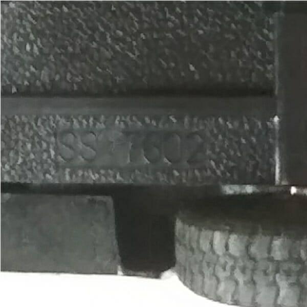 55 Black Pickup Truck Model bottom view