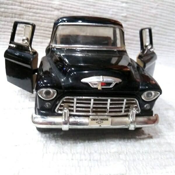 55 Black Pickup Truck Model front view