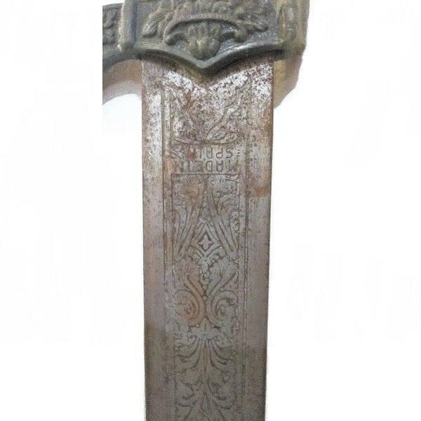 Antique Spanish Sword blade close up 2