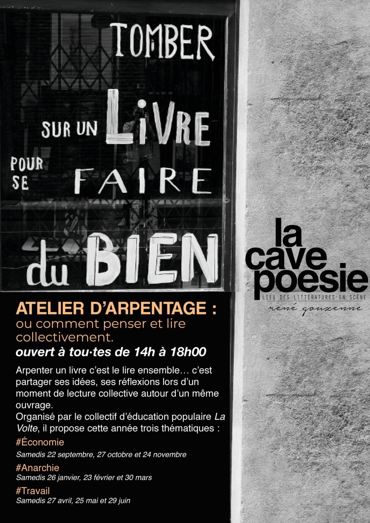 Les Ateliers d'Arpentage à la Cave Po' : saison 3 !