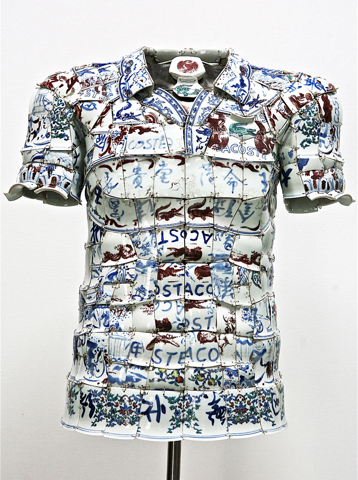 LI Xiaofeng, LACOSTE Porcelain Polo, 2010 front 2 PHOTO BY MIKO