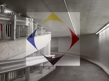 «Rosso nero blu e giallo tra i quadrati e il disco»
