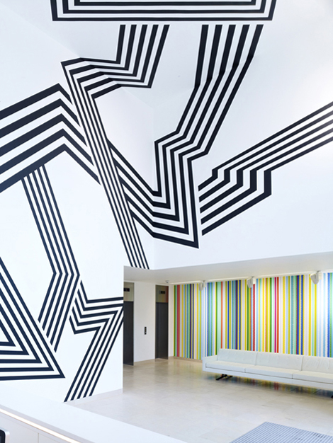 Morag Myerscough - 'Earning My Stripes' installation The Grove, Marylebone, London