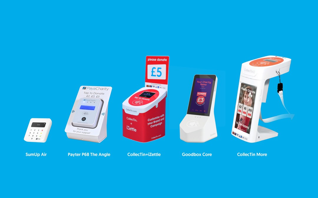 Which contactless Point of Donation product should I choose for fundraising?