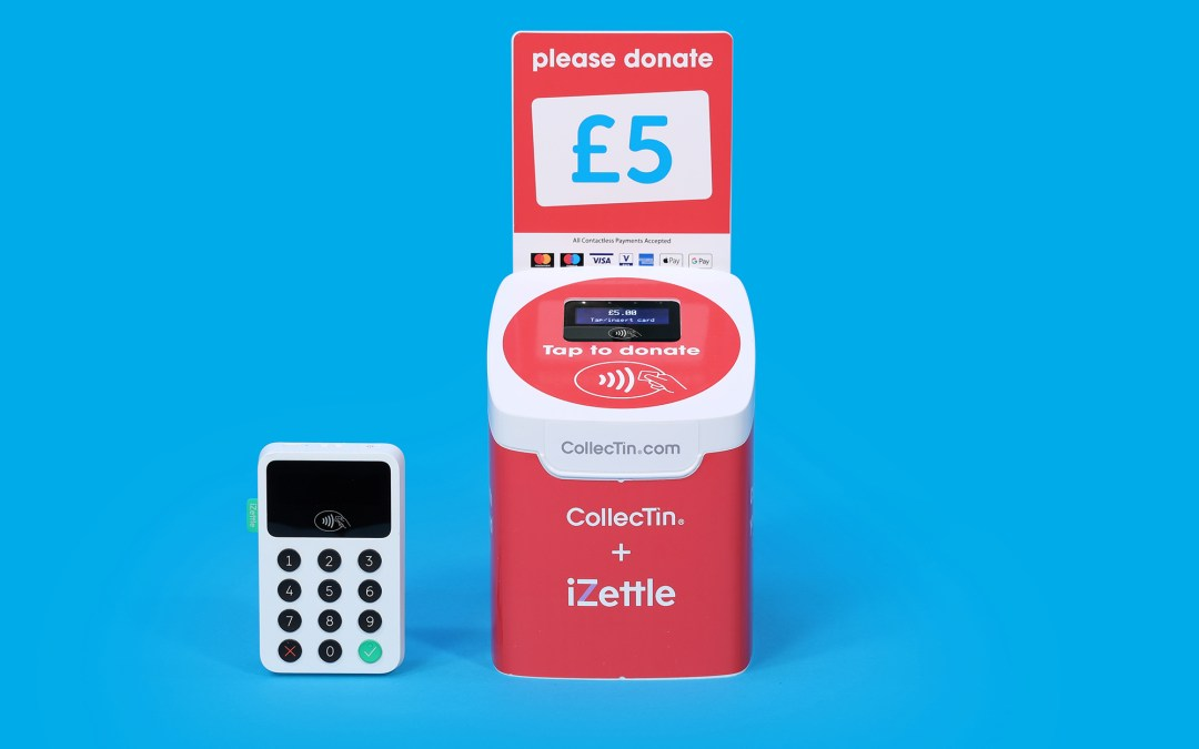 CollecTin teams up with iZettle to boost your Contactless Fundraising