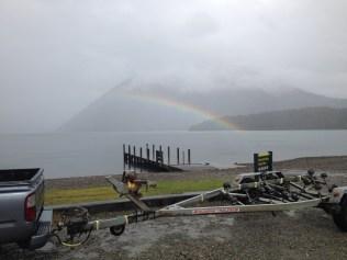 Rainbow over Lake Rotoiti.