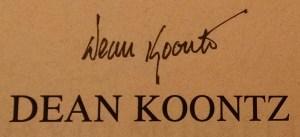 Dean's Autograph