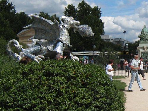 A closer crop of the dragon.