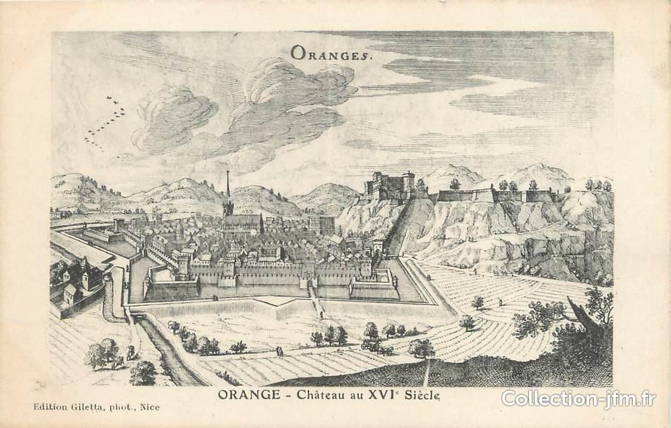 cpa france 84 orange chateau du