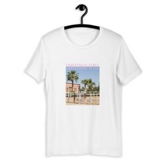 équestre tshirt cavalière