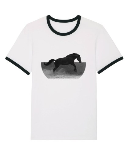 t-shirt cheval noir