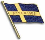 Athènes 1906 badge Suède
