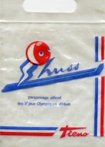 1968 Grenoble olympic mascot Shuss tissue bag