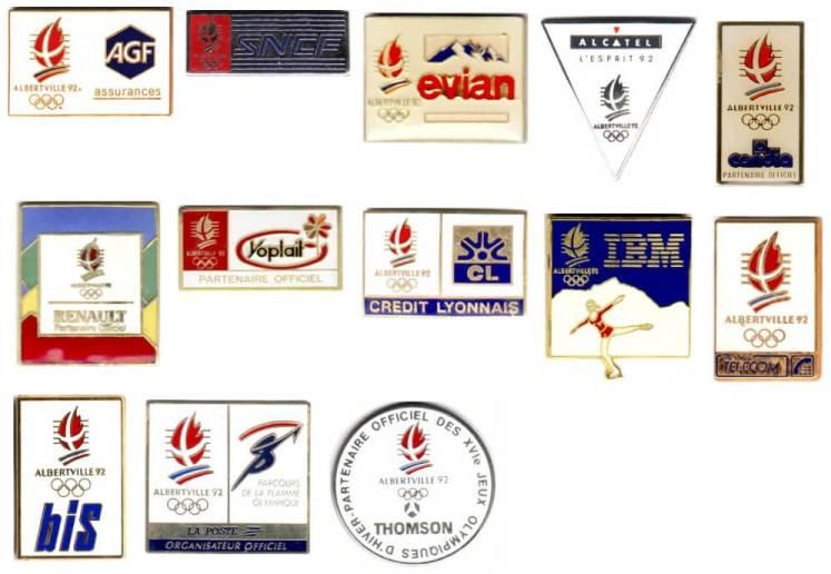 1992 Albertville Coubertin Club pins