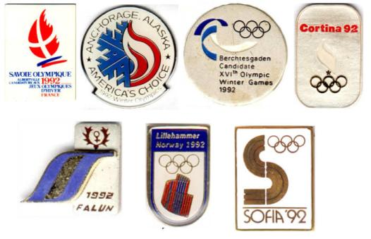 Albertville 1992 pin's candidature