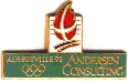 Albertville 1992 pin's olympique Andersen Consulting