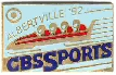 Albertville 1992 pin's olympique media CBS