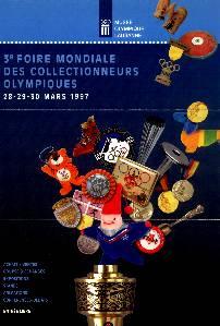 Lausanne 1997, affiche de la 3ème foire internationale des collectionneurs olympiques