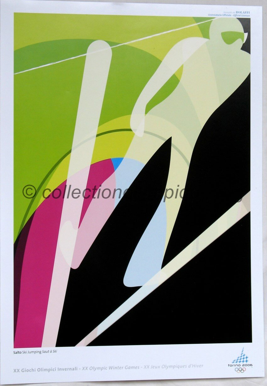 2006 Torino Olympic poster ski jumping 42 x 29,5 cm