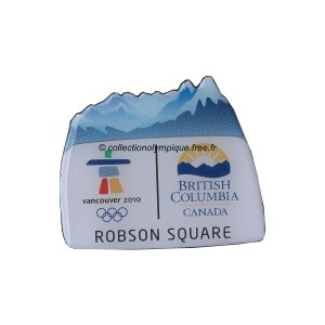2010 Vancouver pin, province British Columbia, Robson Square