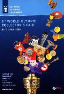 Lausanne 2000 affiche 6ème foire mondiale des collectionneurs olympiques