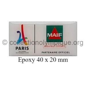 2024 Paris pin's candidature sponsor MAIF époxy 40 x 20 mm