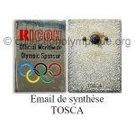 47 01 Club Top pin's Ricoh émail de synthèse signé Tosca