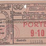 1924 Paris billet olympique, réunion 51 athlétisme, 13/07/1924, recto 14,5 x 7,9 cm