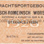 1928 Amsterdam billet olympique, lutte gréco-romaine, 04/08/1928, recto 11 x 6,5 cm