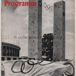 1936 Berlin programme olympique cérémonie ouverture, 01/08/1936 22 x 16,3 cm