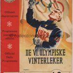 1952 Oslo programme olympique n° 1-2 de la cérémonie d'ouverture, 14-15/02/1952 13,3 x 18,6 cm