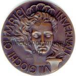 1956 Cortina d'Ampezzo médaille olympique de participant recto - bronze - athlètes - 45 mm - 2532 ex. - designer Costantino AFFER, fabrication Lorioli Bros Ltd (Milan, Italie)