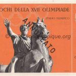 1960 Rome billet olympique cérémonie d'ouverture, 25/08/1960, 27,8 x 9,7 cm