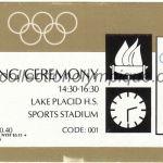1980 Lake Placid billet olympique cérémonie d'ouverture 13/02/1980, 19 x 6,7 cm