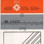 1984 Sarajevo billet olympique cérémonie d'ouverture 08/02/1984, 18,5 x 6,5 cm