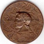 1968 Grenoble médaille olympique de participant recto, bronze - athlètes - 68 mm - designer J.M. COEFFIN