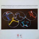1992 Albertville programme olympique de la cérémonie d'ouverture, 08/02/1992 27,9 x 28 cm