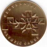 1996 Atlanta médaille olympique de participant recto, bronze - athlètes et officiels - 60 mm - 60 000 ex. - designer Malcom GEAR