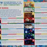2014 Sotchi programme olympique de la cérémonie d'ouverture feuillet, 07/02/2014 29,7 x 21 cm