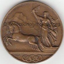 1928 Saint Moritz médaille de participant, recto