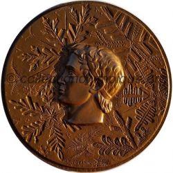 1968 Grenoble médaille de participant, verso