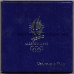 1992 Albertville médaille de participant, boite en carton