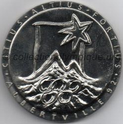 1992 Albertville médaille de participant, verso