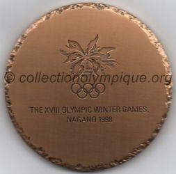 1998 Nagano médaille de participant, recto