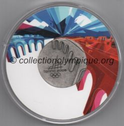 2006 Turin médaille de participant, argent, boite