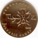 1996 Atlanta olympic participant medal recto, bronze - athlets and officials - 60 mm - 60 000 ex. - designer Malcom GEAR
