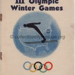 1932 Lake Placid olympic opening ceremony program